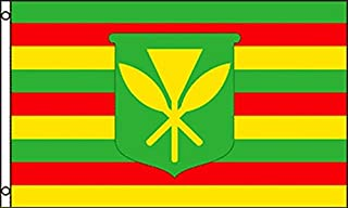 AZ FLAG Hawaii Kanaka Maoli Flag 3' x 5' - Native Hawaiians Flags 90 x 150 cm - Banner 3x5 ft