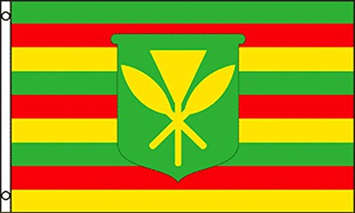 AZ FLAG Bandera de Hawaii Kanaka MAOLI 150x90cm - Bandera Hawaianos NATIVOS 90 x 150 cm