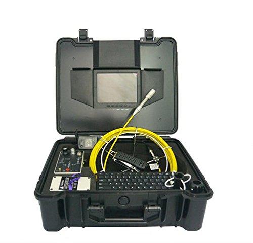 GOWE Endoscopio industrial con cámara de inspección con pantalla a color de 7 pulgadas y sensor de cable de 30 m, tamaño: 1/4 pulgadas, resolución horizontal: 420TVL, sistema de señal: PAL