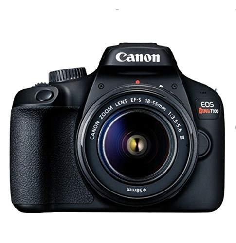 Canon EOS Rebel T100 EF-S 18-55 III Kit, Em Tamanho Real, Preto
