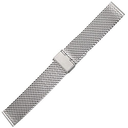 JACHJIN Correa de Reloj, Reemplazo De Banda De Reloj De Acero Inoxidable 20 22 24mm Plata Oro Rosa Oro Reloj Brazaletes (Color : Silver, Size : 22mm)