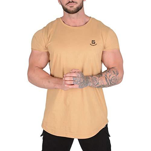Samy 半袖 メンズ トレーニング ノースリーブ 筋トレ ジム Tシャツ スポーツウェア トップス 大きなサイズ BS-5137 カーキ L