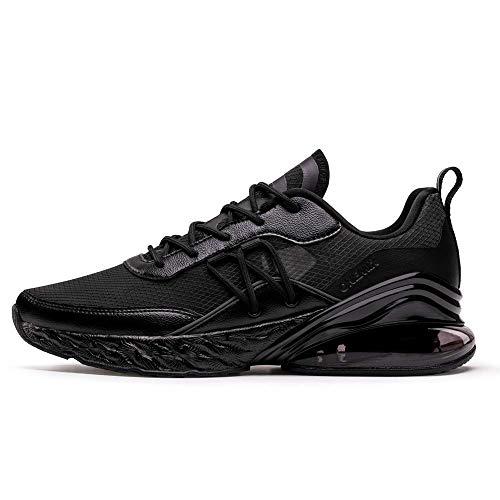 ONEMIX Herren Damen Laufschuhe Air Sportschuhe Straßenlaufschuhe Sneaker für Herren Damen Schwarz 1521 H 42