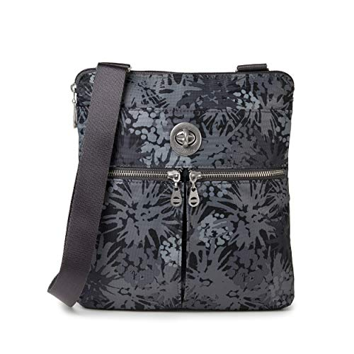 Baggallini womens Madras Rfid Crossbody Bag Convertible Cross Body, Pewter Thistle, One Size US