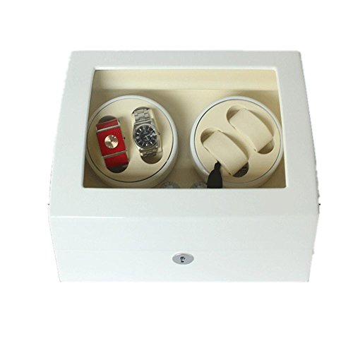 SJGNB 4 + 6 automatische Uhrenbeweger Luxus Display Box Aufbewahrungskoffer Veranstalter Geschenk (mehrere Farben zur Auswahl)