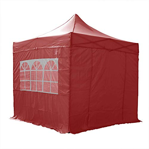 AIRWAVE Essential Pop-Up-Pavillon, mit Seitenwänden, 2,5 x 2,5 m, Rot