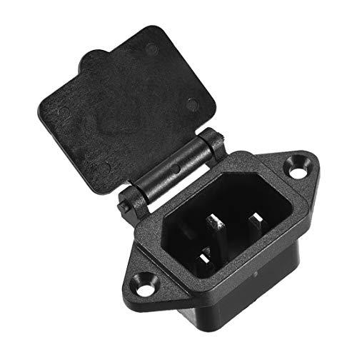 uxcell AC 250V 10A IEC 320 C14 Panel Mount Plug Power Connector Socket...