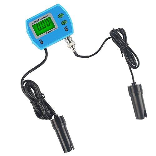 LeaningTech 2 in 1 Misuratori del pH Piaccametro Tester di Qualità dell'acqua Tester di pH / EC 220 V 0.00 ~ 14.00PH