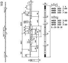 TFB7Q 2231203AI Cerradura Monopunto Para Perfiles Met/álicos 20 mm Inoxidable
