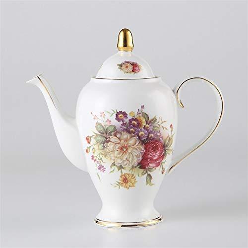 YANGSANJIN Teekanne mit Teesieb aus Porzellan, Vintage, 1000 ml, Keramik, für Café, Teatime, Bloom