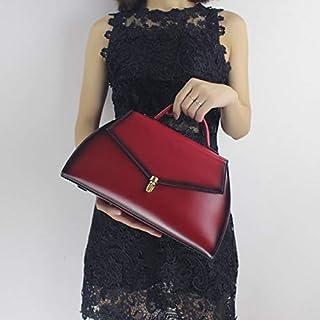 Venetian Red Marilyn Women's Tote Shoulder Bag Genuine Leather Top Handle Satchel Handbag- Vintage Style