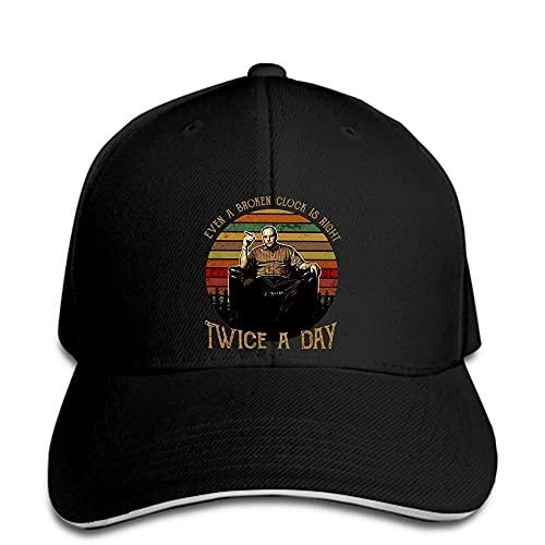 Gorra de béisbol Tony Soprano Incluso el Reloj Roto Tiene razón Dos Veces Hombres Sombrero Negro enarbolado