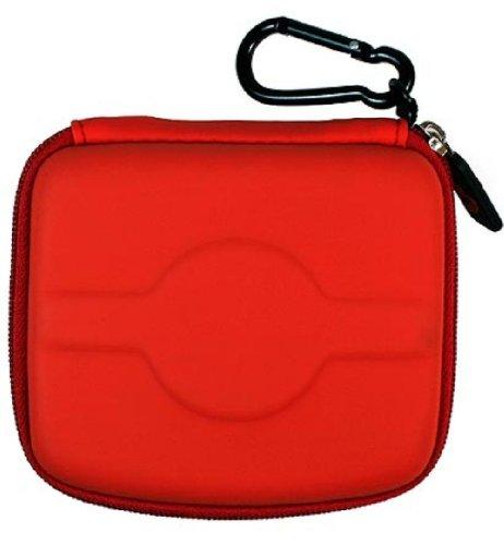 Kroo Nylon Case for 3.5-Inch TomTom GPS (Red)