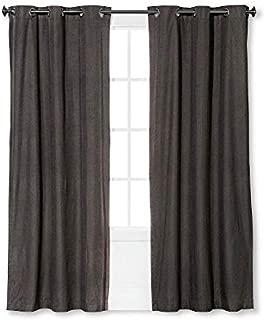 Eclipse Windsor Light Blocking Curtain Panel, Smoke, 42