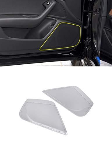 Alliage d'aluminium Haut-Parleur Audio de Porte Avant latérale de Voiture de Garniture de Garniture d'accessoires de Voiture Argent Mat pour A6 2012-2018
