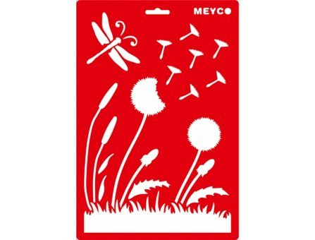 Meyco Transprente Schablone Pusteblume 20x31cm