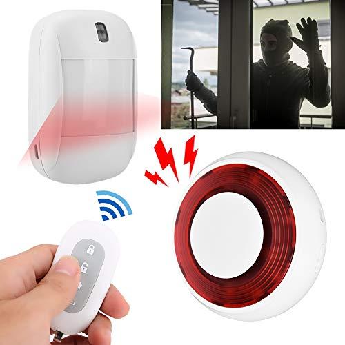 Geluids- en lichtalarm, draadloos opritalarm/waarschuwingsgeluid Licht Aidoble visuele sensor/draadloos infrarood alarmsysteem voor thuisbeveiligingssysteem