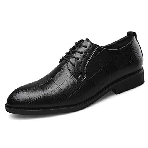 Hombres Zapatos de Vestir de Negocios Formales con Cordones Punta Puntiaguda Derby...