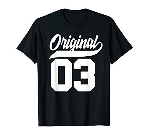 17.Geburtstag Geschenk Jungen Mädchen Original Jahrgang 2003 T-Shirt