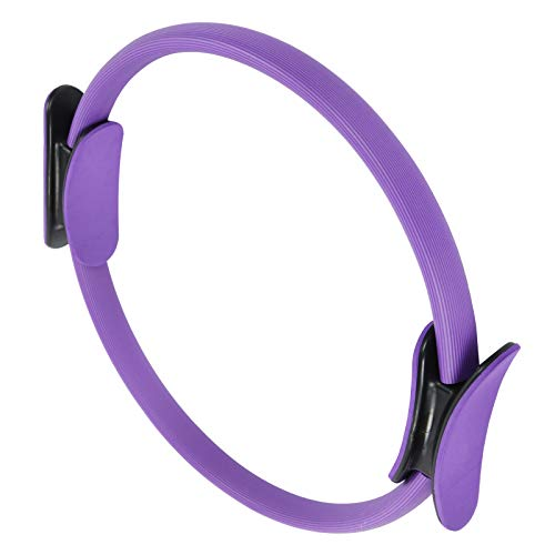 VGEBY Anillo de Pilates, círculo Corporal para pérdida de Peso, Anillo de Yoga, Ejercicio de Doble Mango, Anillo de Fitness, Herramienta de Entrenamiento físico(púrpura)