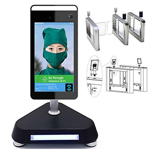 GODLV Smart AI Control de Acceso Automático IR Cuerpo Humano Reconocimiento de la Cara Termómetro Medidor Sistema de Alarma de Fiebre Alta Sistema de Seguridad