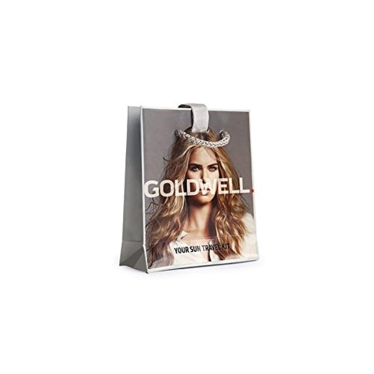 友情安らぎれる日ヘアケアトラベルバッグ x4 - Goldwell Dualsenses Sun Haircare Travel Bag (Pack of 4) [並行輸入品]