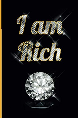 I am Rich: One of the most expensive notebooks in the world   Diamond cover   120 pages   lined notebook