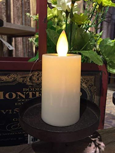 CFLFDC CandlestickVela de Rosa Vintage, Luces de tifón para Restaurante, Oficina, Escritorio, Centro de Mesa, Vela de simulación electrónica Larga, 4 x 6,3 cm