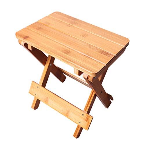 AniYY Taburete de madera interior portátil taburete de madera al aire libre taburete cuadrado plegable