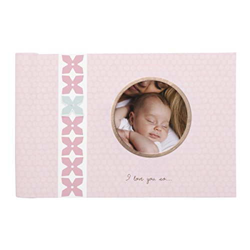 C.R. Gibson Pink Small Photo Album Baby Brag Book for Baby Girls by DwellStudio, 20 Pages, 4.5'' x 7.25''