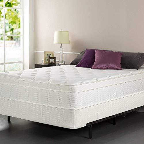 Zinus iCoil 13 Inch Euro Top Spring Mattress and BiFold Box...