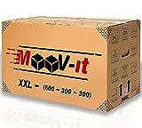 Pack de 10 cajas de cartón para mudanza,50x30x30cm, Cartón reforzado y...