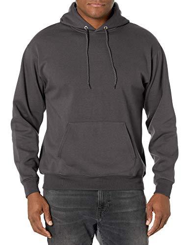 Hanes mens Pullover Ecosmart Fleece Hooded athletic sweatshirts, Smoke Gray, Small US New Hampshire