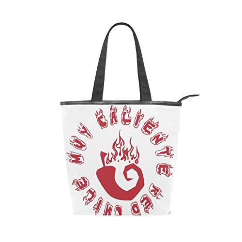 MALPLENA Malpela Hot Red Chili Schulter-Handtasche für Damen