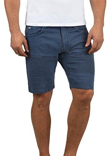 Redefined Rebel Matisse Herren Jeans Shorts Bikershorts Kurze Denim Hose Aus Stretch-Material Slim Fit, Größe:XXL, Farbe:Mid Blue