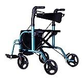 ZhuFengshop Ältere Trolley Walker Aluminiumlegierung Rad mit Sitz Walker Scooter Einkaufswagen Einfach Rollstuhl Supermarkt, Lagerhaus