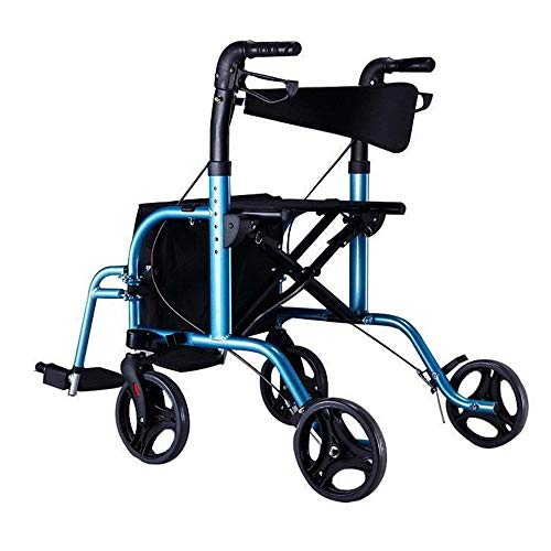 YSNUK Einkaufstrolley Ältere Trolley Walker Aluminiumlegierung Rad mit Sitz Walker Scooter Einkaufswagen Einfach Rollstuhl Supermarkt, Reise