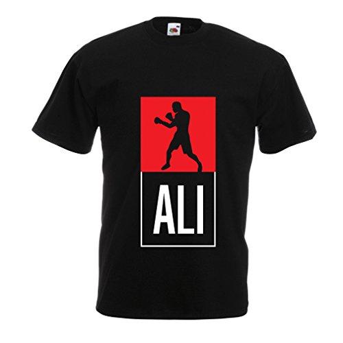 Camisetas Hombre Boxeo - en el Estilo de Lucha para Entrenamiento, Deportes, Ejercicio, Funcionamiento, Ropa de Fitness (Small Negro