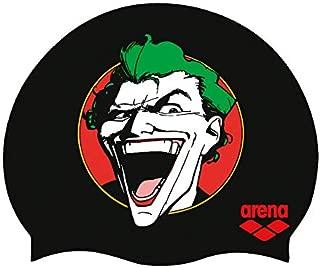 Arena WB Superheros Gorro de natación de Silicona para jóvenes, Joker