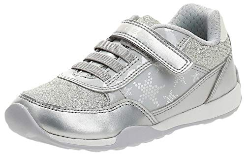 Geox Bambina Scarpe Basse J Jocker Plus Girl, Ragazza Scarpe con Chiusura in Velcro,Street Shoe,Sneaker,Grey/White,31 EU / 12.5 UK Child