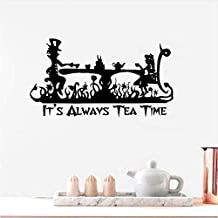 BEIKE Vinyl Art Sticker It's Always Tea Time Wall Decal 5630Cm