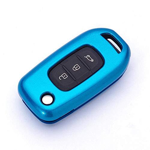 ZSDEW Funda de llave inteligente, cubierta de llave de coche, 3 botones, ABS, para Renault Dacia Lada Sedan Largus Kalina Granta Vesta X-Ray XRay Color 2