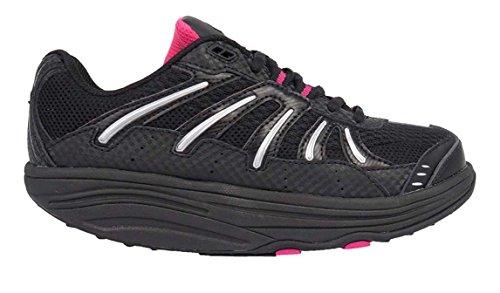 Exersteps Women's Brisa Sneakers (9, Black)