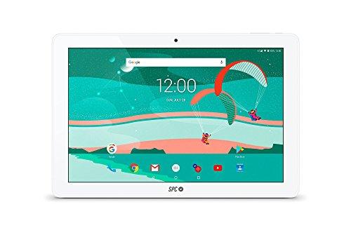 SPC Gravity - Tablet 4G con pantalla IPS HD 10.1 pulgadas, memoria interna 16GB, RAM 2GB, WiFi y Bluetooth – Color Blanca