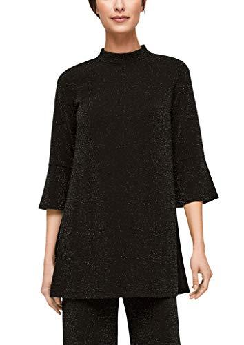 s.Oliver BLACK LABEL Damen 150.10.011.12.130.2062212 T-Shirt, Black Glitter, 44