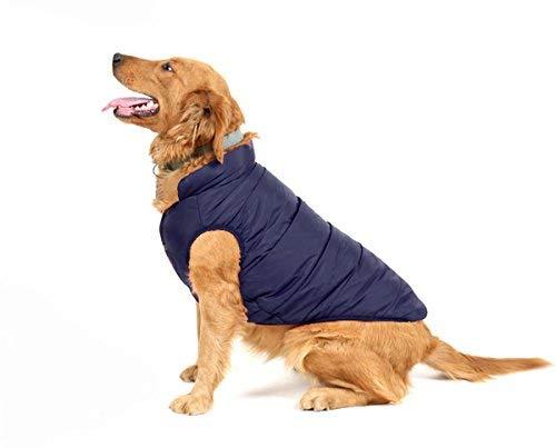 PENVO Ropa para Perros de Mascotas, Abrigos y Chaquetas Impermeables de Invierno para Perros pequeños y medianos Grandes Chaleco de Perro Cachorro Traje de suéter (Azul, S)