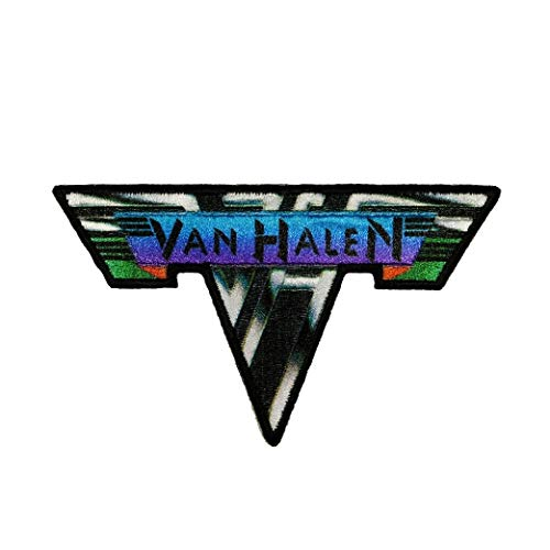 """VAN HALEN, Metal Logo, Officially Licensed, Iron-On/Sew-On, Embroidered PATCH - 2.3"""" x 4"""""""
