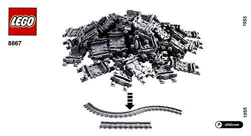 LEGO City - 64 bewegliche / flexible Schienen passend zu 7939 und 7938 und 7896