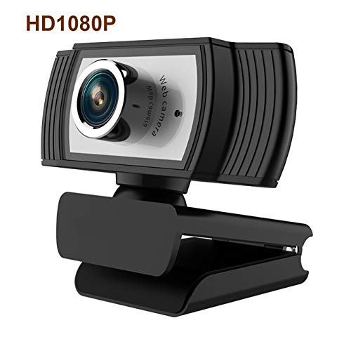 HD Webcam 1080P Streaming Web Camera with Microphones, Webcam for Gaming Conferencing & Working, Laptop or Desktop PC, USB Computer Camera for Mac Xbox YouTube Skype OBS Microsoft Teams, DingTalk