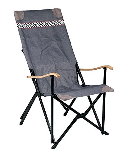 Bo-Camp Urban Outdoor-Sedia da Campeggio-Camden, Alluminio, Grigio, Taglia unica